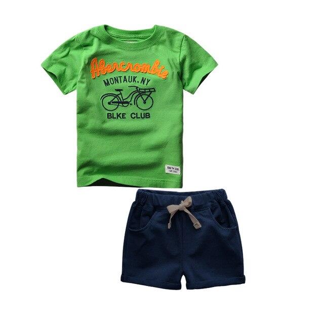 2016 новый Летний новый Мальчиков комплект одежды детей спортивный костюм мальчиков майка + брюки gogging толстовка повседневная одежда