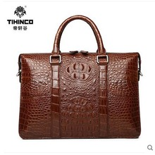 tihinco New authentic crocodile handbag single shoulder bag leather male fashion business and leisure bag document package