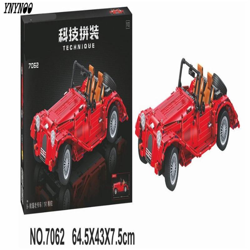 YNYNOO 7062 Lepin Technic convertible car building bricks blocks toys for children Boy Game Bela 1600v103j cbb81 103j1600v