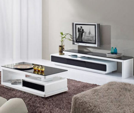 Us 474 05 5 Off Tv Stand Living Room Home Furniture Table Modern Style Fashionable Cabinet Paint White Black Unit Embly Meuble In