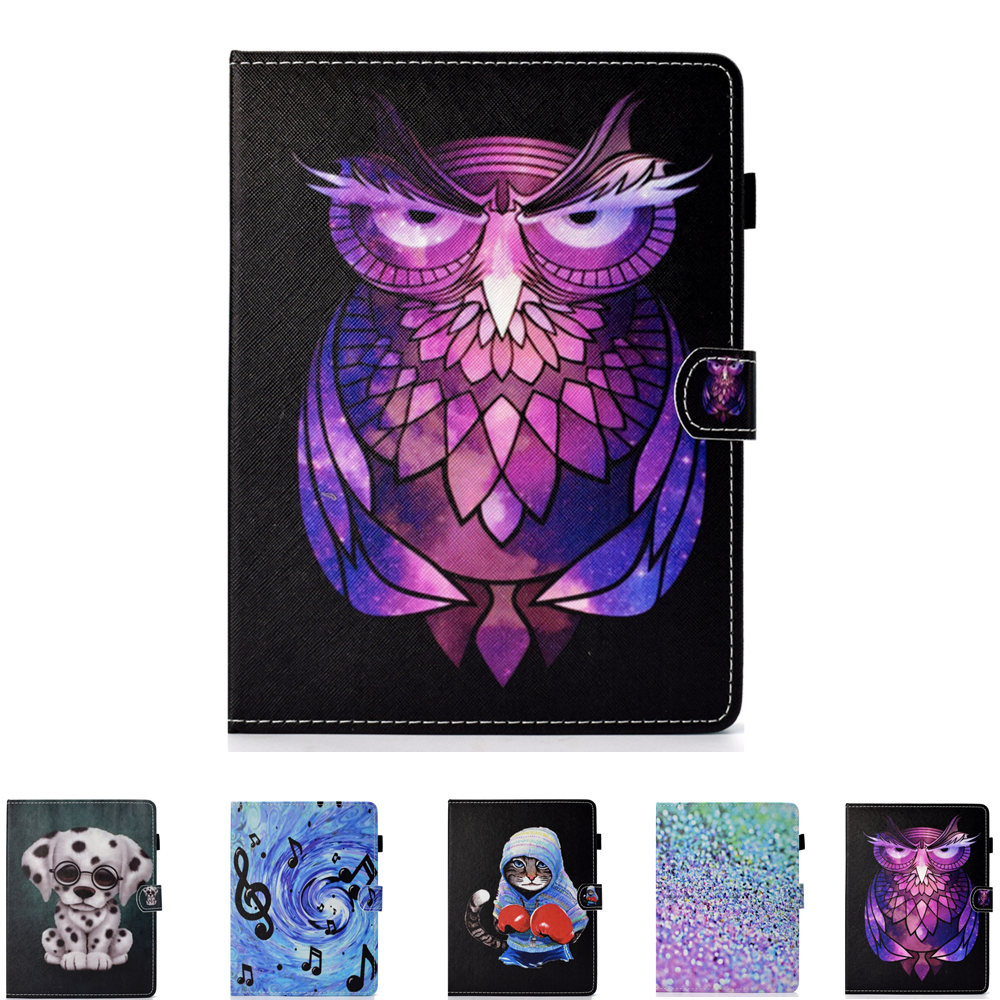 Universal Cartoon Cover for Navitel T700 A735 A737 3G 7 Inch Tablet OWI Dog Style PU Leather stand universal Case+Free Stylus image