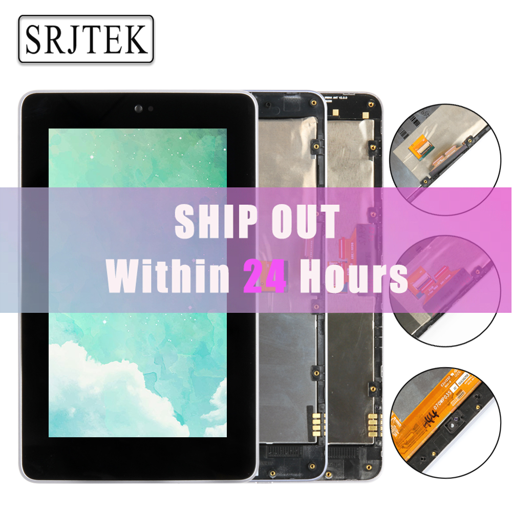 High Quality LCD Display Touch Digitizer Screen With Frame For ASUS Google Nexus 7 Nexus7 2012