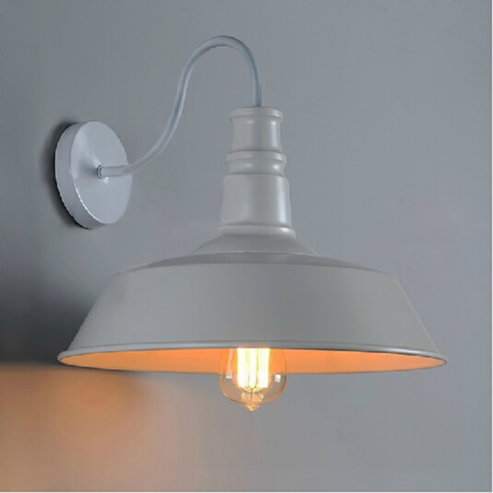 E27 American Style Bar Wall Lamp Brief Pendant Light Vintage Restaurant  Lights Iron Wall Light For