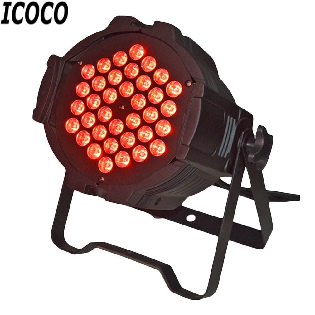 Stage Effect Lights 36*1W LED Cast Aluminum Par Light Disco Club Party KTV Show Bright LED Light Sound Controller Spotlight New casdon корзина для покупок