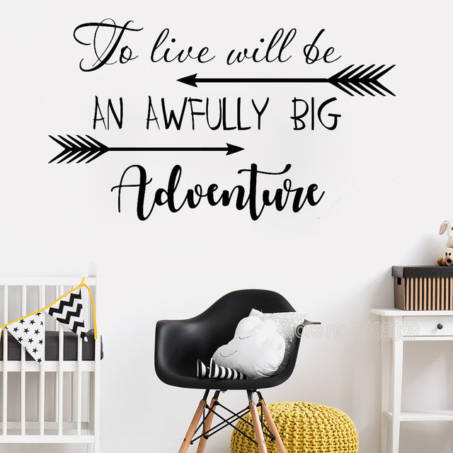 Inspirational Wall Decal Quotes To Live Will Be An Awfully Big Adventure Vinyl Nursery Stickers For  sc 1 st  AliExpress.com & Inspirational Wall Decal Quotes To Live Will Be An Awfully Big ...