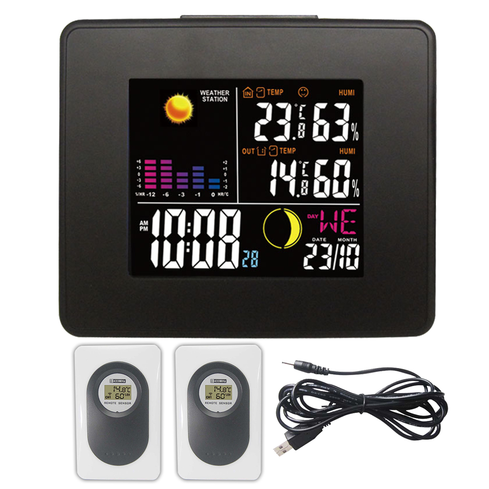DYKIE Digital LED Thermometer Hygrometer Electronic Temperature Humidity Meter Weather Station Indoor Outdoor Tester Alarm Clock new 525 golf clubs honma bezeal 525 complete set honma golf driver wood irons putter graphite golf shaft plus bag free shipping