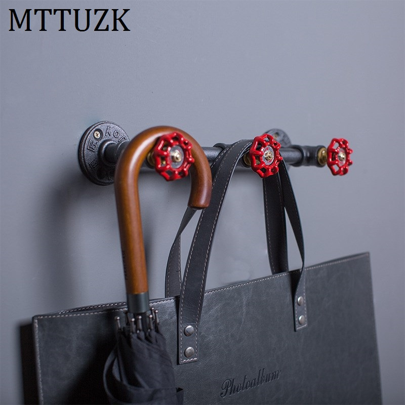 Bathroom Fixtures Home Improvement Mttuzk Black Iron Pipe Robe Hooks Industrial Wind Pipe Retro Towel Bar Wall Mounted Towel Hanging Bathroom Accessories