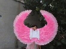 Бесплатная доставка EMS взрослых Красный Сексуальный дьявол крылья из перьев для журнал съемки сценическое Партия показать Розовая фея крылья