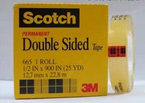Прозрачная двусторонняя Лента Scotch 665, 1x3 м, 1/2*900 дюймов, 25 ярдов, 12,7 мм * 22,8 м для офисной OA PCB DIY, Mix PCB