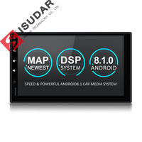 Isudar Universal Car Multimedia Player 2Din Android 8.1 DVD Automotivo Wifi Radio FM GPS USB DVR OBD2 Quad Cores RAM 2G ROM 16G