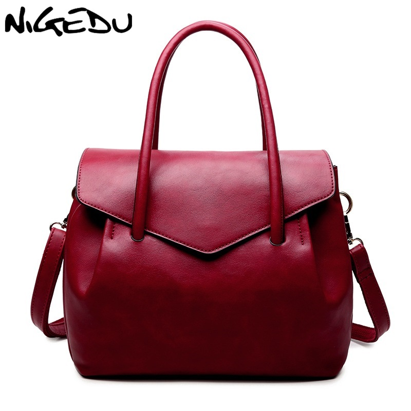 NIGEDU Mulheres Marca Bolsas de Luxo Designer De Couro PU bolsa Crossbody Bag Moda Feminina Messenger Sacos Saco de Ombro Das Senhoras Grandes Totes