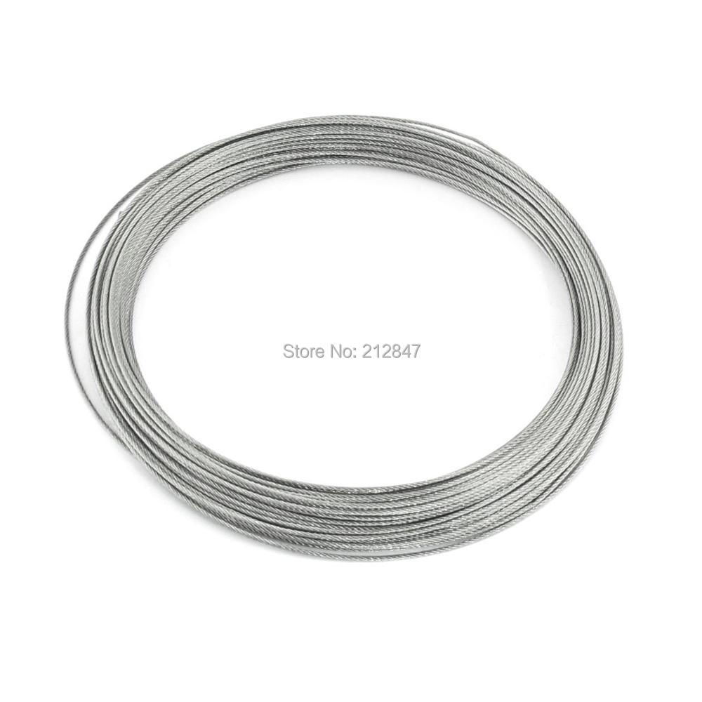 50meters 4mm Wire Rope 7x7 Stainless Steel A4 Wire Rope Catenary FREE SHIPPING