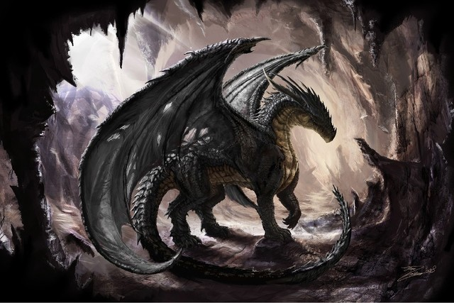 Cave dragons fantasy art digital art artwork cloth silk for Buy digital art online