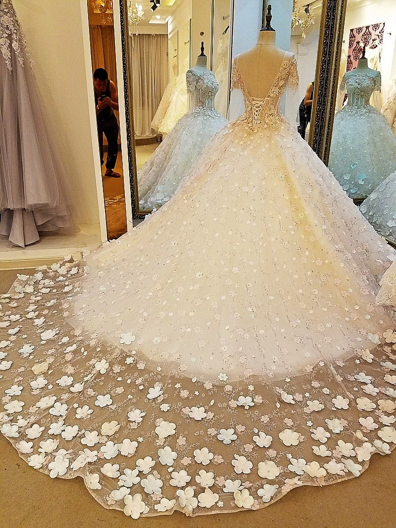 Evening dress lace beading ball gown long party formal dress organza robe de soiree abendkleider 2018 real photos