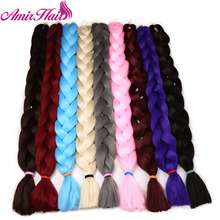 Amir  Gray Purple Pink Blonde Synthetic Braiding Hair Colors 82inch 165g Kanekalon Jumbo Braids Hair Extensions BulK