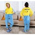 Miúdos das crianças Pijama de Flanela Animal Anime Trajes Sleepwear Cosplay Onesie Dos Desenhos Animados minions