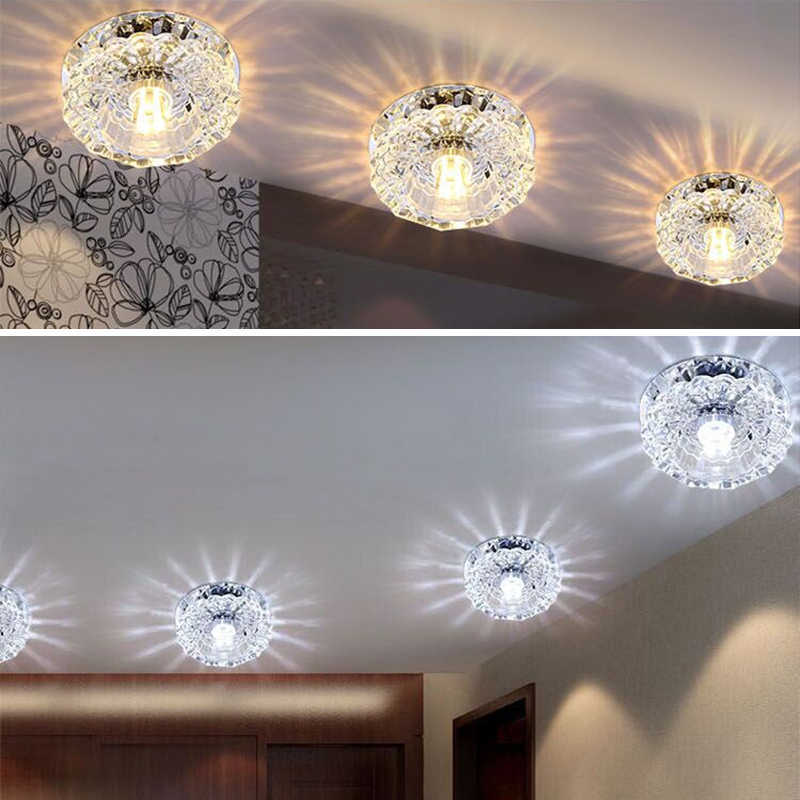 Downlight SMD 3W 5W LED Downlights crystal lamp Ceiling Spot Light With LED Driver AC110V 220V indoor Decoration