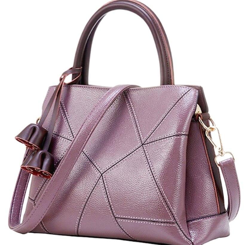 a32c274a99f6 handbag Ladies Genuine Leather Bags For Women Gray purple Luxury Handbags  Female Flower tassel crossbody bags