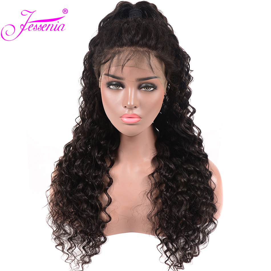 Brazilian Deep Wave 13x4 Lace Front Human Hair Wigs Ple Plucked For Black Women 150% Density Remy Lace Front Wigs