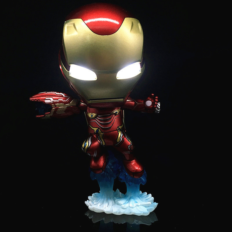 The Avengers 3 Iron Man Tony Stark Action Figure Toy Marvel Anime Cartoon Ornaments Child Kid Gift Decoration