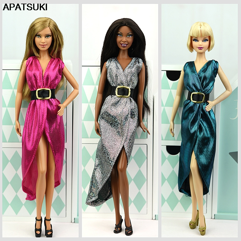 Fashion Doll Clothes Evening Dress For Barbie Doll Clothes Outfits Vestido Clothes For Barbie Dollhouse 1/6 BJD Doll Accessories
