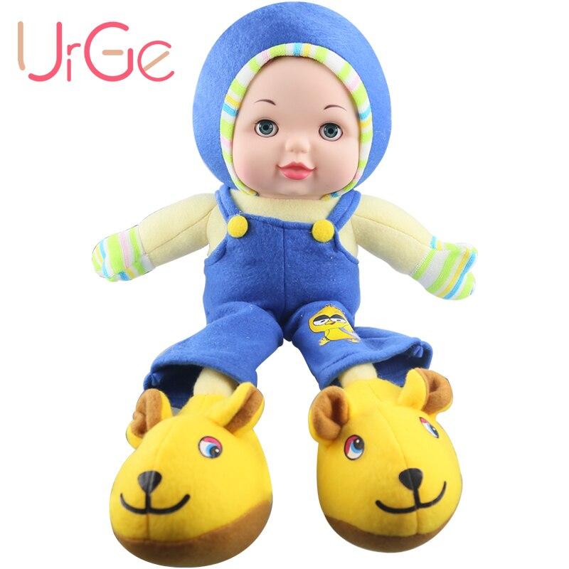 45 cm en peluche doux visage en silicone poupées enfants jouets pour filles anniversaire cadeau de Noël poupée URGE