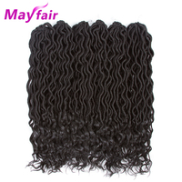 MAYFAIR 6 Packs Goddess Faux Locs Crochet Hair Faux Locs Curly Crochet Braid Hair 24 Roots 18 Inches Soft Faux Locs 70g/Pack