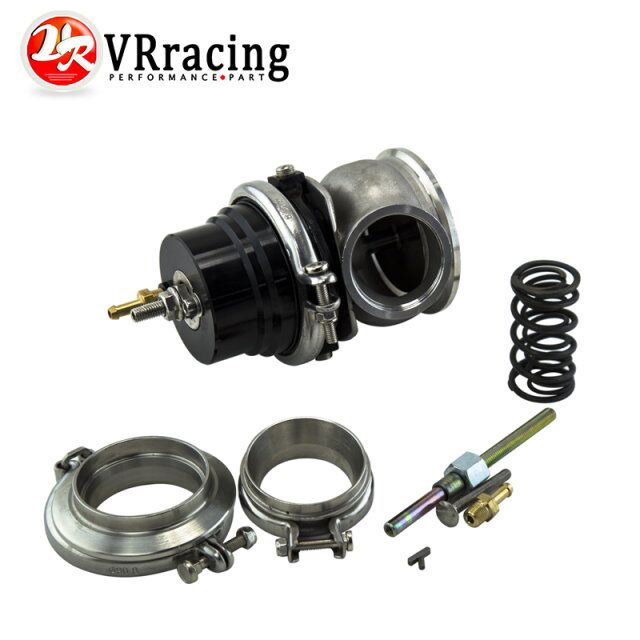 VR RACING GT II 60MM Adjustable Turbo Wastegate Black V BAND For 1jzgte SR20DET JDM VR5891BK