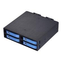 Uneatop ST2540L 4-Bay 2.5″ Aluminum Case SATA HDD Internal Enclosure Blue Door
