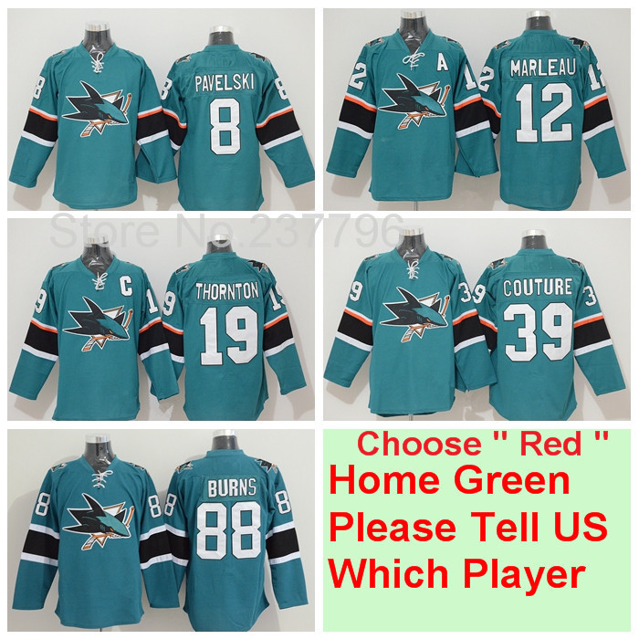 25th Anniversary San Jose Sharks Jersey Hockey 8 Joe Pavelski 12 Patrick  Marleau 19 Joe Thornton 39 Logan Couture 88 Brent Burns-in Hockey Jerseys  from ... 5c6174bff