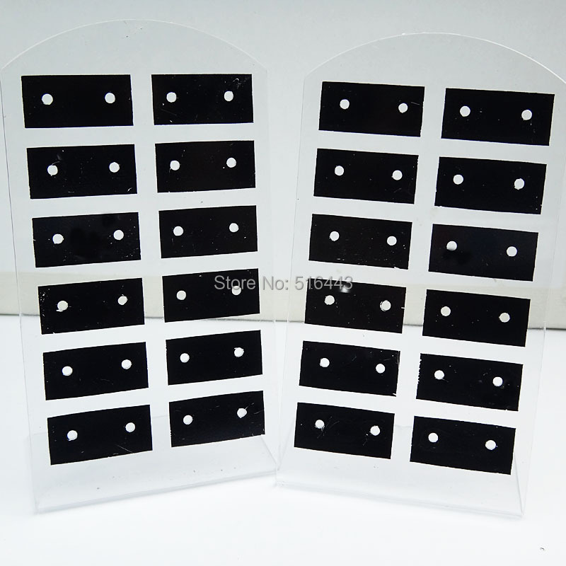 10pcs 12pairs Jewelry Earring Displays Stand Stud Earing Holder Display Rack Ng Card Acrylic Cards In Packaging