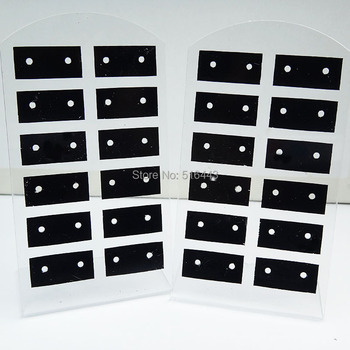 10pcs 12Pairs Jewelry Earring Displays Stand Stud Earing Holder Earring Display Rack Earring Packing Card Acrylic Earring cards фото