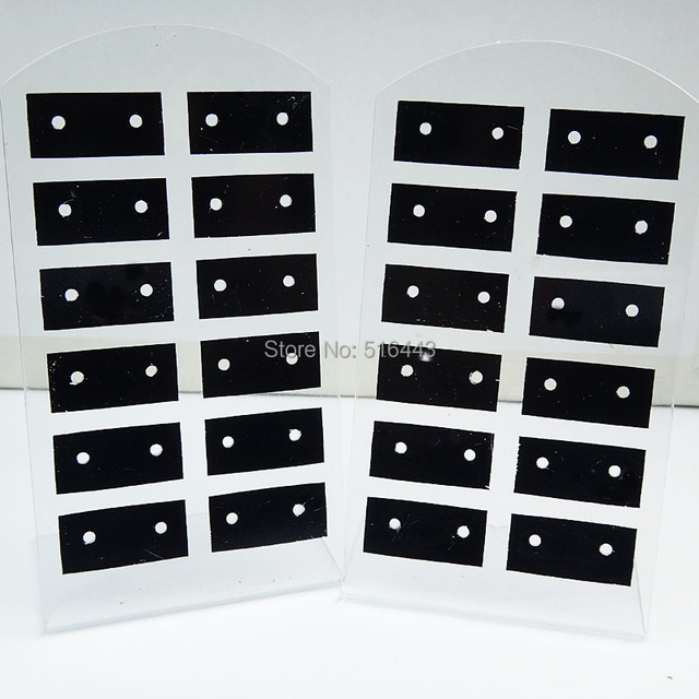 10pcs 12pairs Jewelry Earring Displays Stand Stud Earing Holder Display Rack Ng Card Acrylic