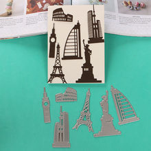 DUOFEN METAL CUTTING DIES S18081013 world landmark lace hollow DIY Scrapbook Paper Album 2018 new(China)