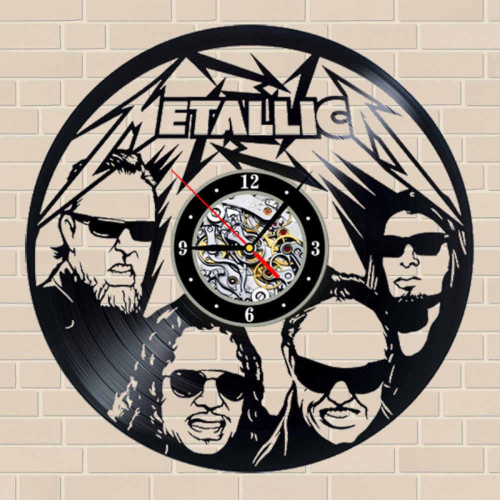 music decoration ideas reviews online shopping music decoration free shipping 1piece metallica vinyl music record wall clock vintage 12