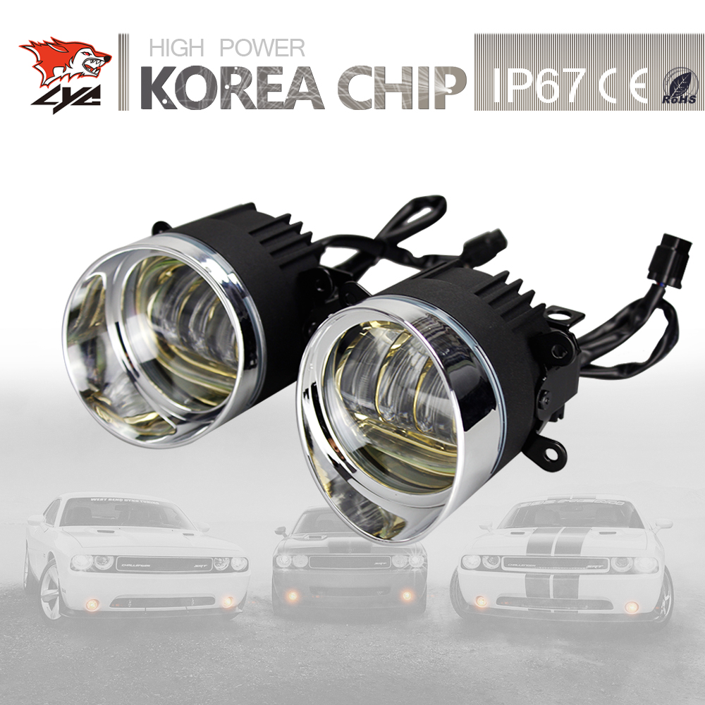 LYC Day Running Lights Led For Jeep jk Fog Lights Led Led Car Lights For Suzuki or for Toyota 3.5 Round Lamp Universal Car high quality lyc for jeep wrangler yj fog lights daylight running overhead fog lights for toyota nissan lights 30w 3000k 6000k