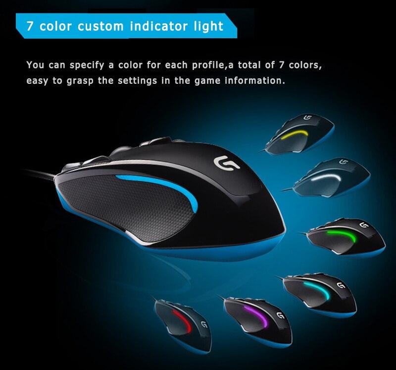mmo mouse 2500 dpi 9 botões programáveis