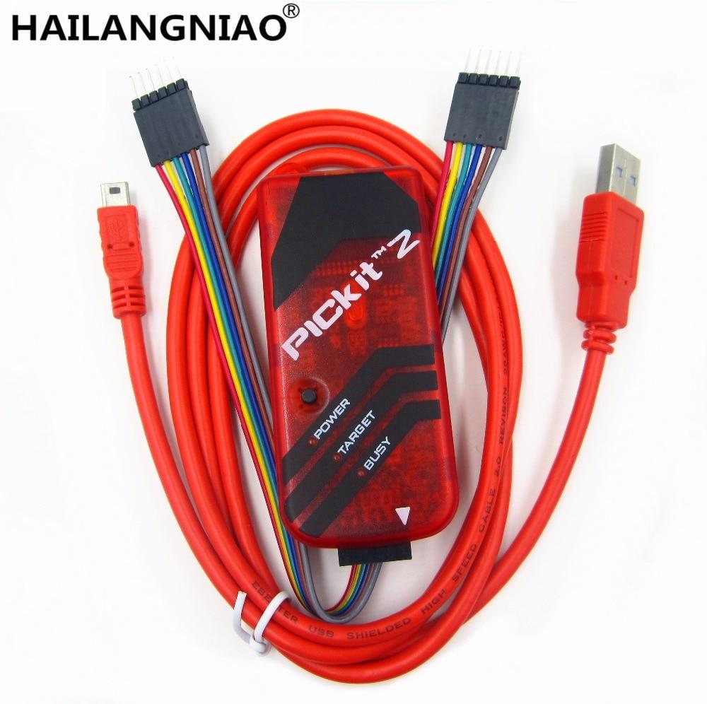 5sets lot PICKIT2 PIC Kit2 Simulator PICKit 2 Programmer Emluator Red Color w USB cable Dupond