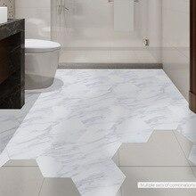 Funlife Waterproof Bathroom Floor Tile Sticker Adhesive PVC Marble Floor Decal Peel&Stick Sticker Non-Slip Home Entrance Decor