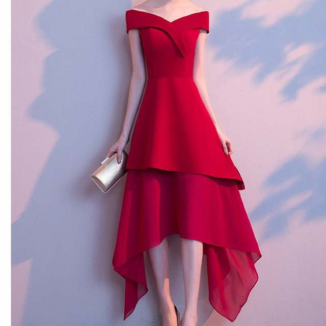 Online Shop 2018 Summer Dress Women Red Dress Elegant Sexy Knee Length  Slash Neck Club Party Formal Porm Vestidos White Black Verano Gown  bfe9a6a50