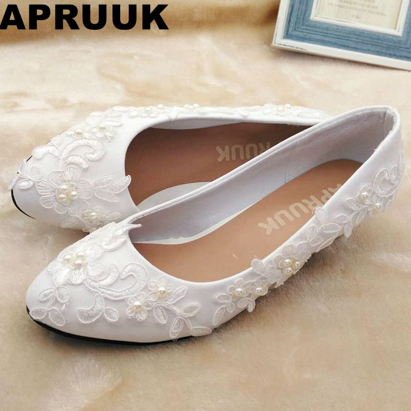 White lace pearls wedding shoes bride fashion new design handmade sweet lace pearls bridal shoes bridesmaid pumps plus size camera battery charger cradle for sony fe1 ac 100 240v 2 flat pin plug