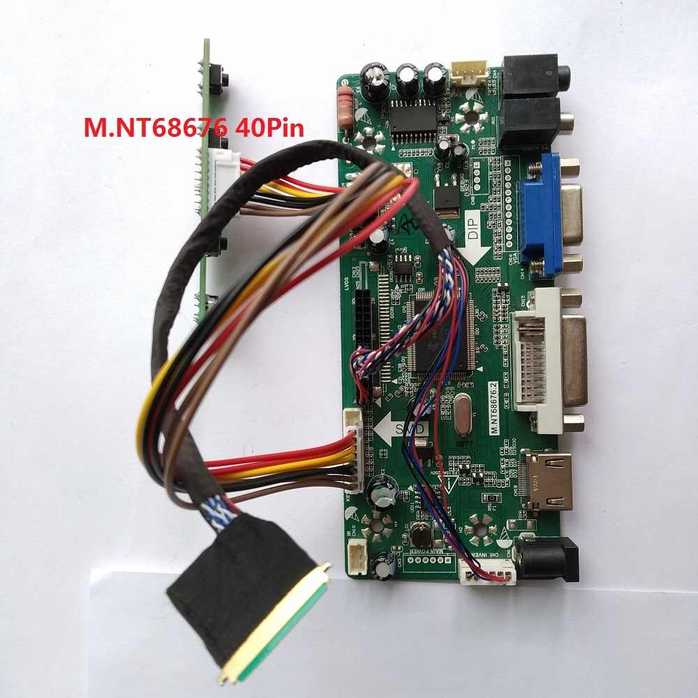 "Kit Voor B156XW02/LTN156AT02 Controller Board Panel Screen Vga Dvi Hdmi Lcd 15.6 ""Lvds 40pin Monitor M.N68676 1366X768 Led Diy"