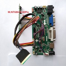 """Набор для B156XW02/LTN156AT02 плата контроллера панель экрана VGA DVI HDMI LCD 15,6 """"LVDS 40pin монитор M.N68676 1366X768 светодиодный DIY"""