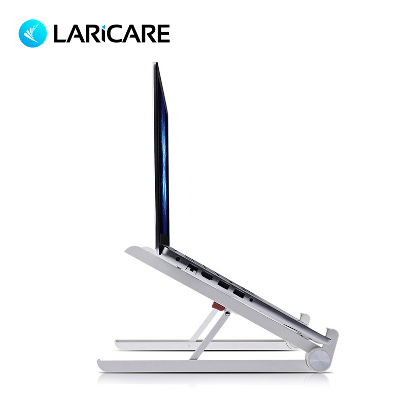 LARICARE X1 Laptop Stand Folding Portable Adjustable Lapdesk For Laptop, Office Lapdesk.Ergonomic Notebook stand