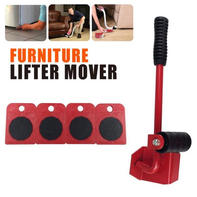 Merveilleux 5Pcs Furniture Transport Set Furniture Lifter U0026 Furniture Slides Heavy Move  House 4 Wheeled Corner Movers