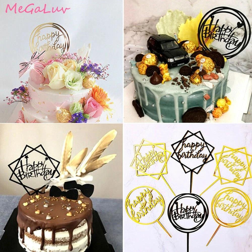 18th Birthday Cake Topper Black