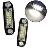 2 unids/set coche luz LED de matrícula Asamblea reemplazo para VOLVO S80 XC90 S40 V60 XC60 S60 C70 V50 XC70 V70|Matrícula| |  -