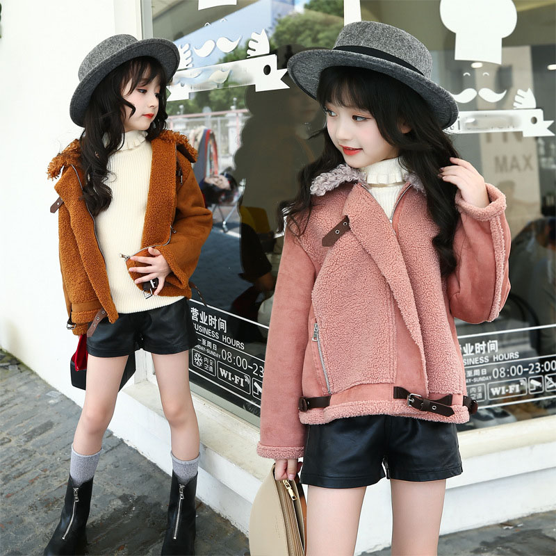thick fleece big girl coat winter 2018 outwear brown long sleeve autumn winter jacket for girls children clothing warm tops 2017 winter women jacket down new fashion long sleeve hooded thick warm short coat slim big yards female autumn parkas ladies242