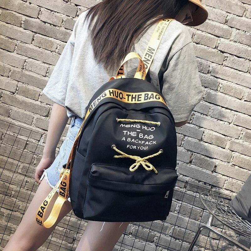 School Bag Girl Student Preppy Style Backpack Harajuku Ulzzang High School Student Fashion Joker Simple Hong Kong Style Backpack