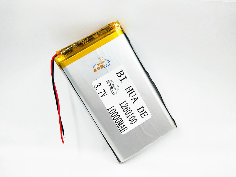 New 1260100 <font><b>3.7V</b></font> <font><b>10000mAh</b></font> Lithium <font><b>Battery</b></font> Li-Po Rechargeable <font><b>Batteries</b></font> Replacement With PCB For Tablet DVD GPS Medical Device image